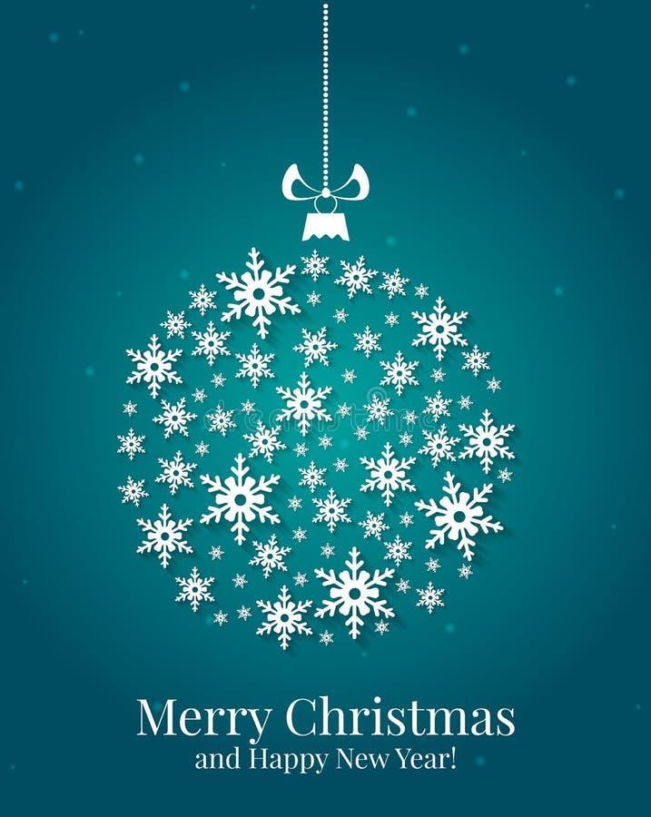 Κάρτα Χριστουγέννων. Διανυσματική απεικόνιση. απεικόνιση αποθεμάτων