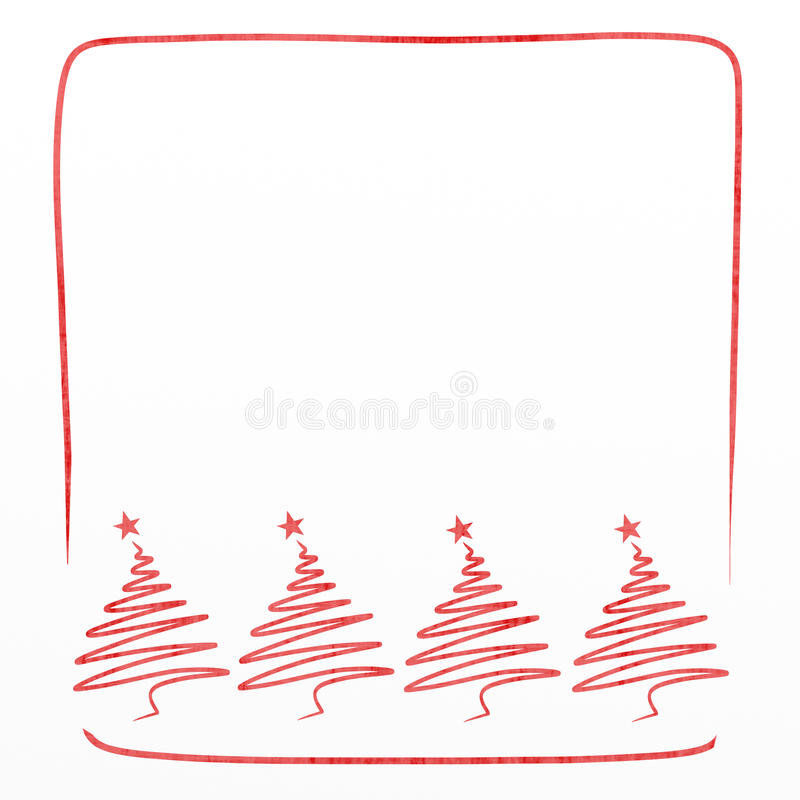 Κάρτα Χριστουγέννων με το πεύκο ελεύθερη απεικόνιση δικαιώματος