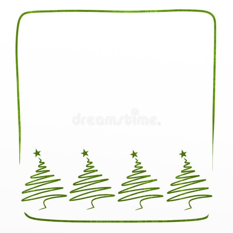 Κάρτα Χριστουγέννων με το πεύκο απεικόνιση αποθεμάτων