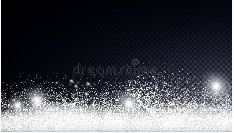 Κάρτα Χριστουγέννων με το χιόνι διανυσματική απεικόνιση