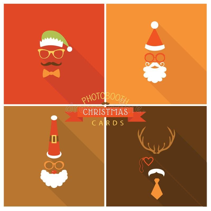 Κάρτα Χριστουγέννων στο ύφος θαλάμων φωτογραφιών απεικόνιση αποθεμάτων