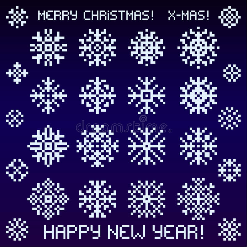 Κάρτα Χριστουγέννων των εικονοκυττάρων ελεύθερη απεικόνιση δικαιώματος