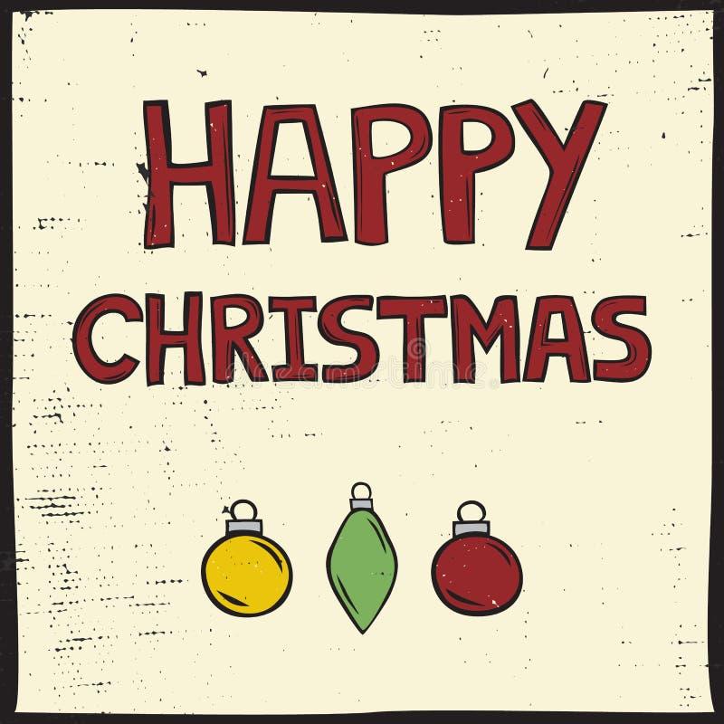 Κάρτα Χριστουγέννων ύφους Linocut στοκ εικόνα με δικαίωμα ελεύθερης χρήσης