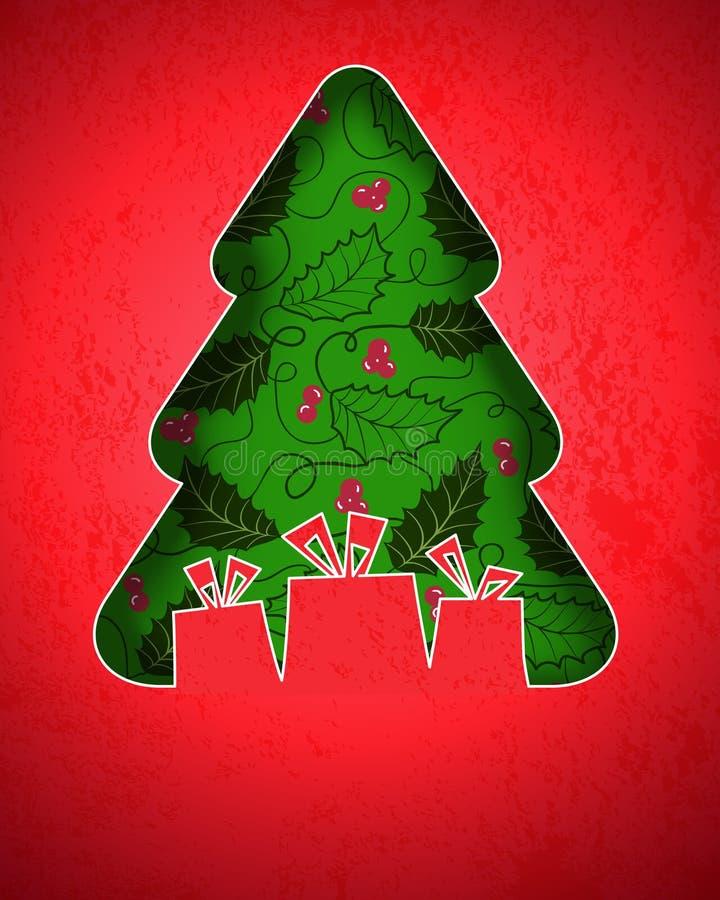 Κάρτα Χριστουγέννων απεικόνιση αποθεμάτων