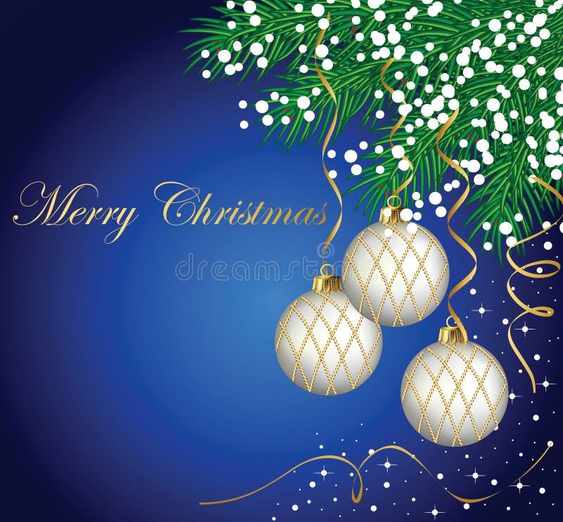 Κάρτα Χριστουγέννων διανυσματική απεικόνιση