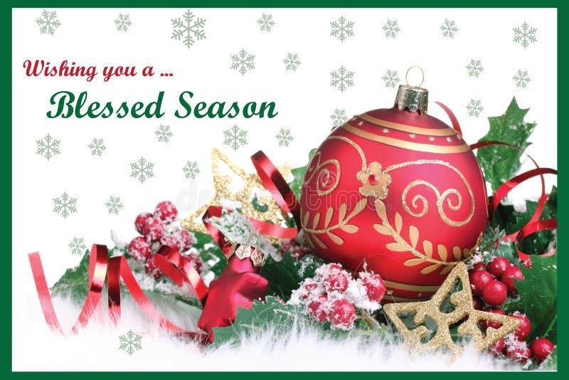 Κάρτα Χριστουγέννων 09 διανυσματική απεικόνιση