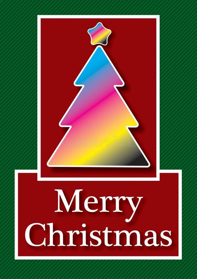 Κάρτα Χριστουγέννων CMYK διανυσματική απεικόνιση