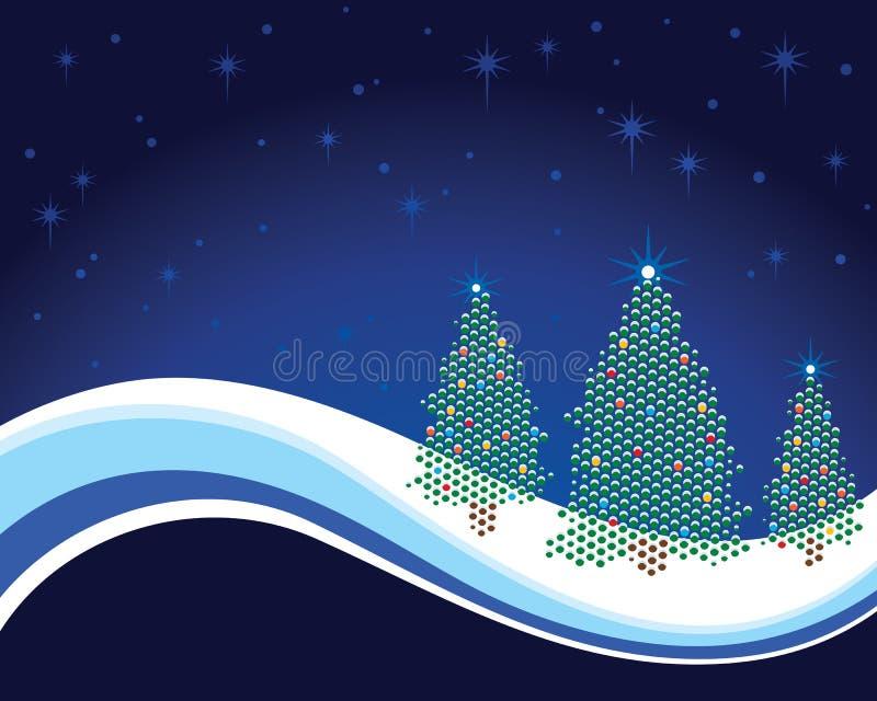 Κάρτα χριστουγεννιάτικων δέντρων απεικόνιση αποθεμάτων