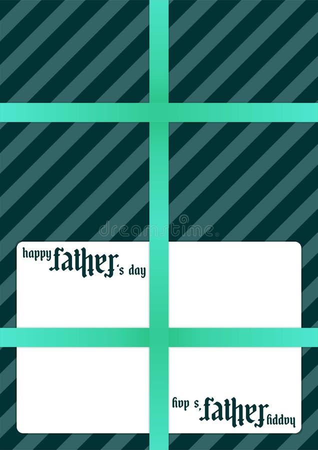 Κάρτα δώρων - πατέρας - ημέρα πατέρων ` s στοκ φωτογραφίες