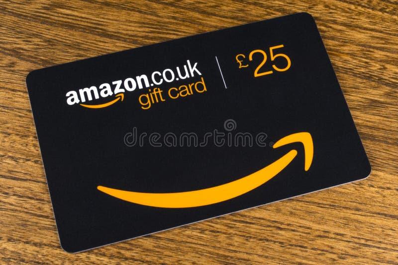 Κάρτα δώρων του Αμαζονίου στοκ εικόνες
