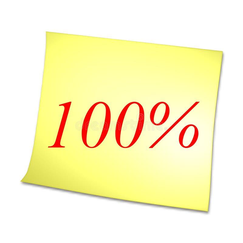 κάρτα 100 κίτρινη απεικόνιση αποθεμάτων