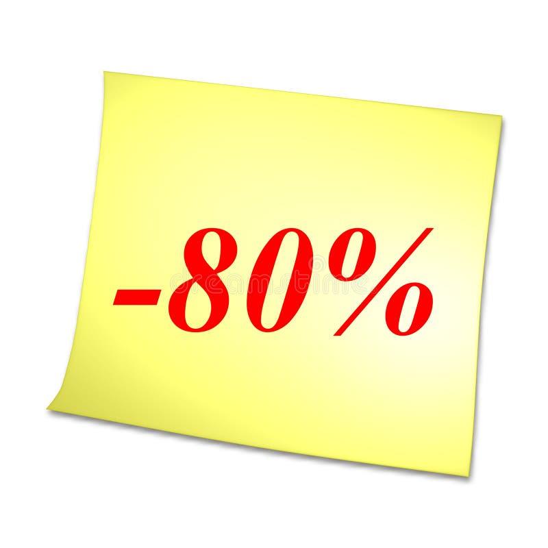 κάρτα 80 κίτρινη διανυσματική απεικόνιση
