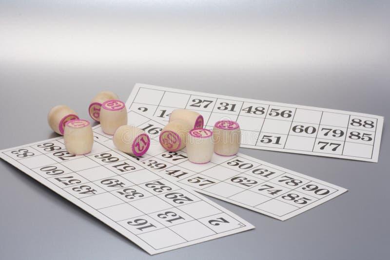 Κάρτα bingo λότο για τη διασκέδαση στοκ φωτογραφία