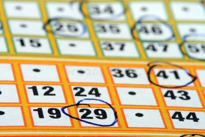 κάρτα bingo στοκ εικόνες