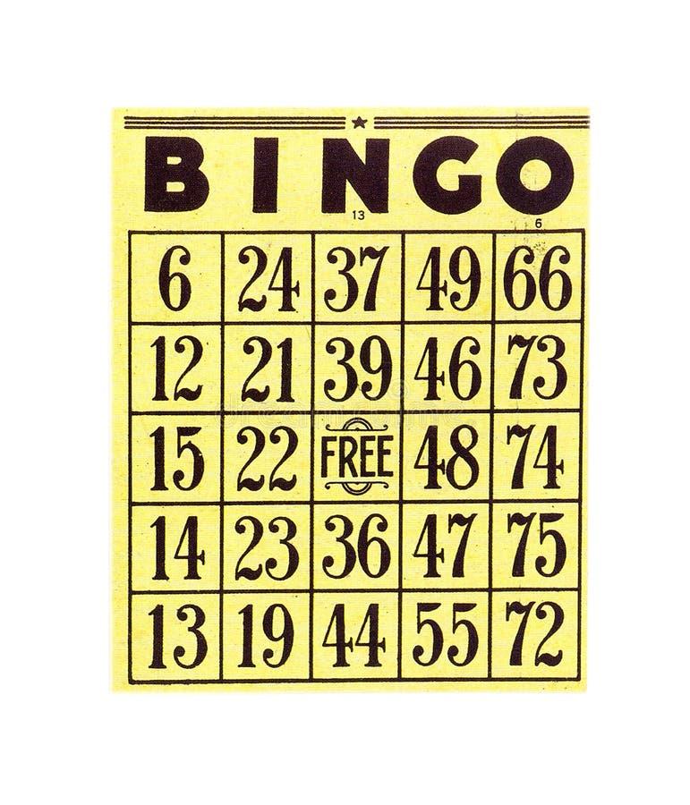 κάρτα Bingo Στοκ φωτογραφία με δικαίωμα ελεύθερης χρήσης