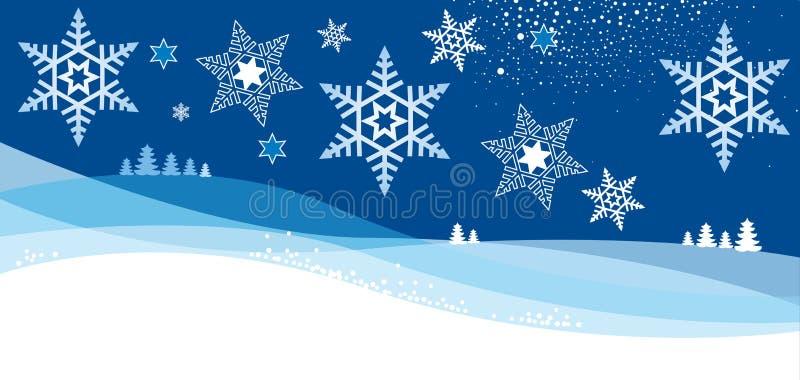 Κάρτα Christmass με τη νιφάδα ελεύθερη απεικόνιση δικαιώματος