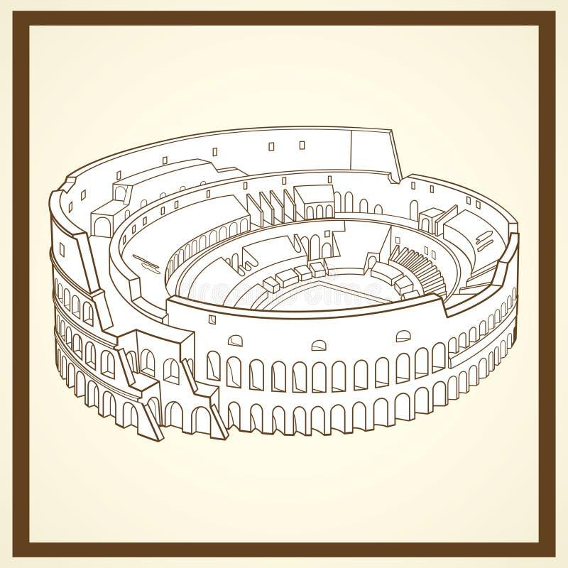 Κάρτα Coliseum απεικόνιση αποθεμάτων