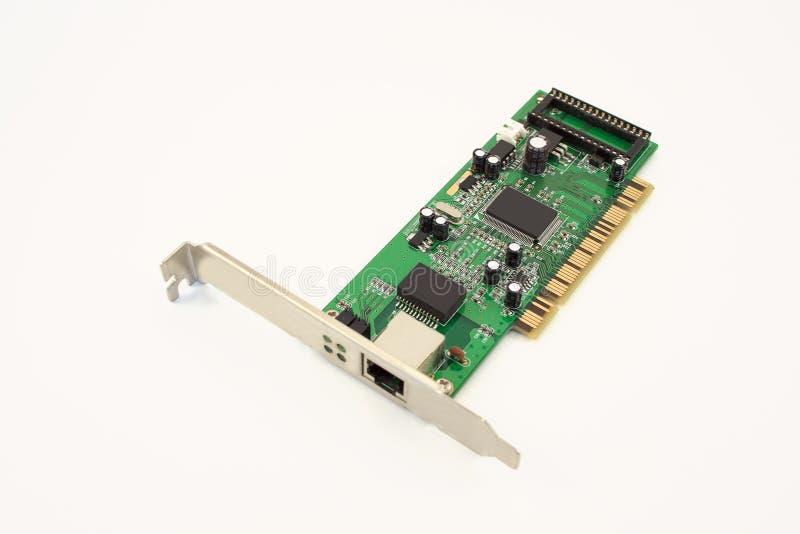 Κάρτα Ethernet για το προσωπικό Η/Υ στοκ φωτογραφία με δικαίωμα ελεύθερης χρήσης