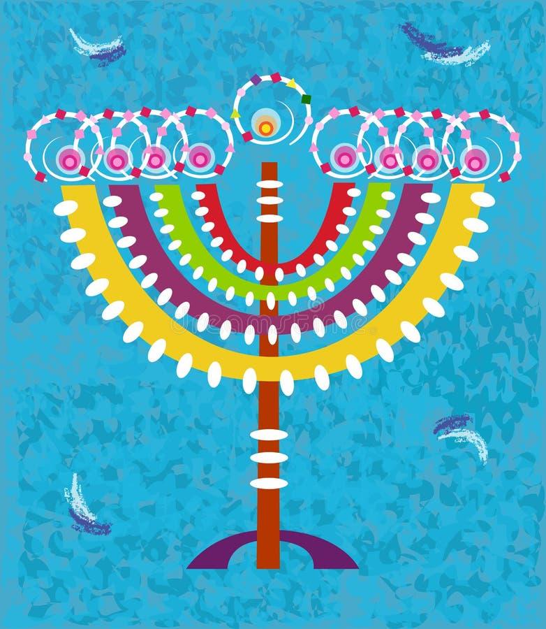 Κάρτα Hanukkah διανυσματική απεικόνιση