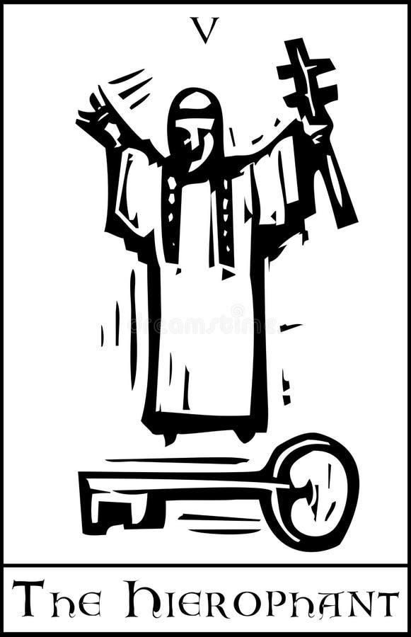 Κάρτα Hierophant Tarot διανυσματική απεικόνιση