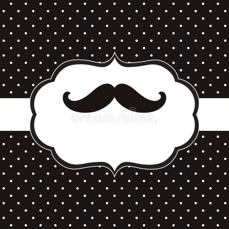Κάρτα Mustache διανυσματική απεικόνιση