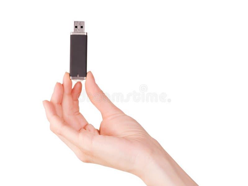 Κάρτα PC λάμψης εκμετάλλευσης χεριών γυναικών στοκ εικόνες