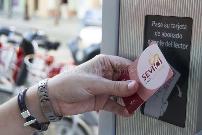 Κάρτα Sevici στοκ φωτογραφίες με δικαίωμα ελεύθερης χρήσης