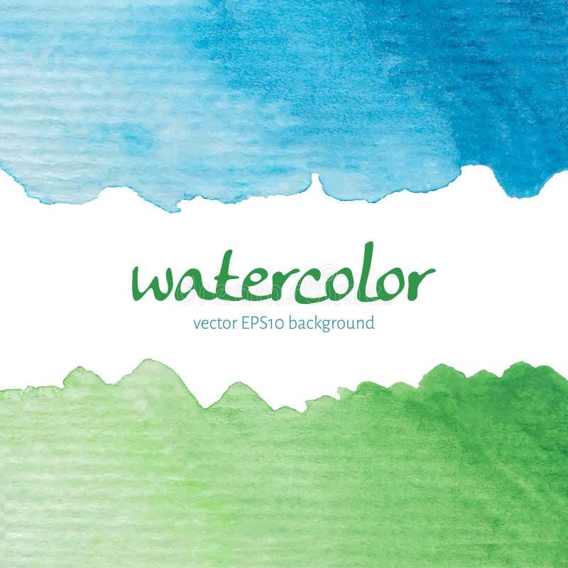 Κάρτα Watercolor ελεύθερη απεικόνιση δικαιώματος