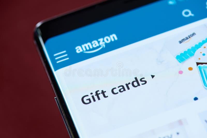 Κάρτες δώρων του Αμαζονίου στοκ εικόνες