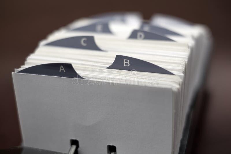 Κάρτες δεικτών για τις επαφές Oganizing ή την επιχείρηση πληροφοριών στοκ εικόνα με δικαίωμα ελεύθερης χρήσης