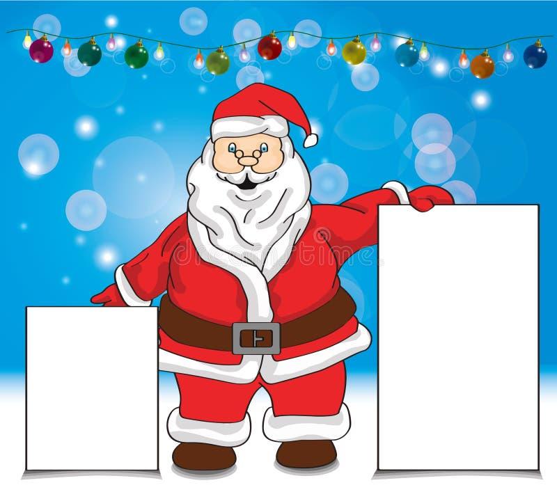 Κάρτες επίδειξης εκμετάλλευσης Santa στοκ φωτογραφία με δικαίωμα ελεύθερης χρήσης