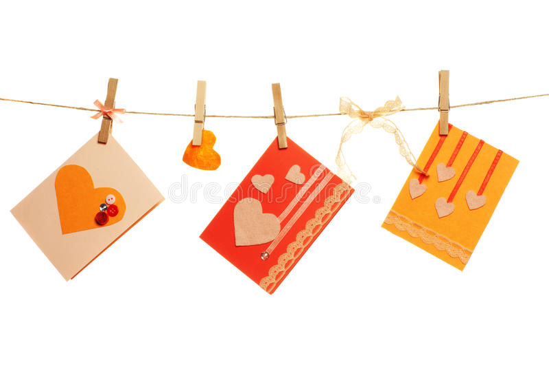 Κάρτες ημέρας βαλεντίνου στοκ φωτογραφία με δικαίωμα ελεύθερης χρήσης