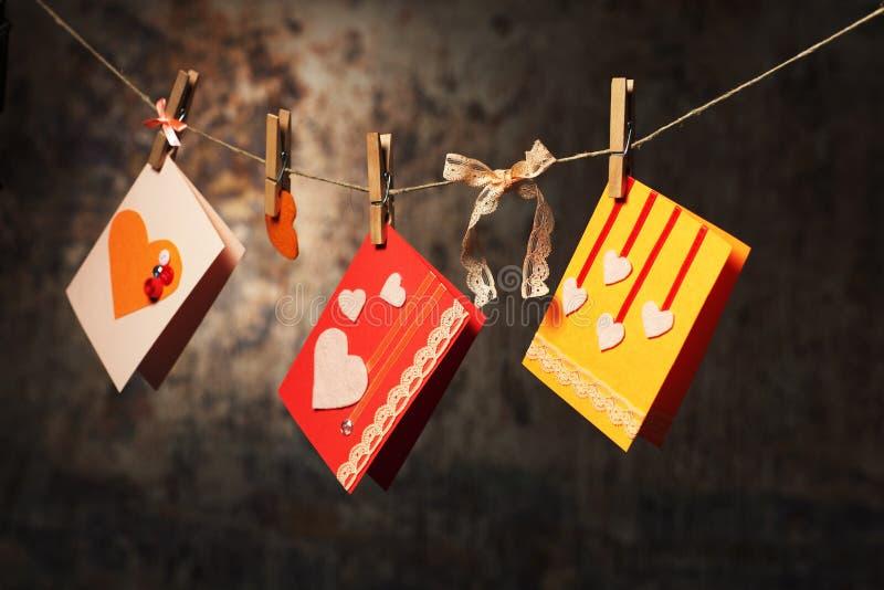 Κάρτες ημέρας βαλεντίνου στοκ φωτογραφίες με δικαίωμα ελεύθερης χρήσης