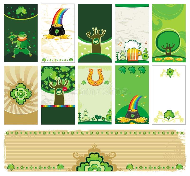 κάρτες ημέρα Πάτρικ s ST διανυσματική απεικόνιση