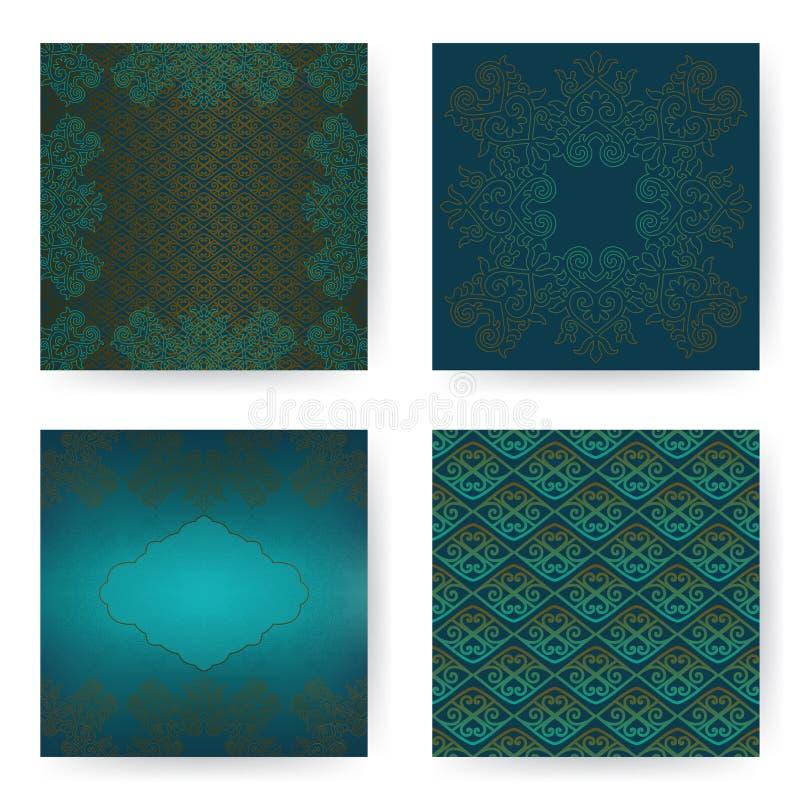 Κάρτες με τη διακόσμηση διανυσματική απεικόνιση