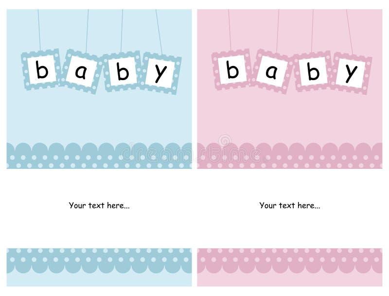 κάρτες μωρών απεικόνιση αποθεμάτων