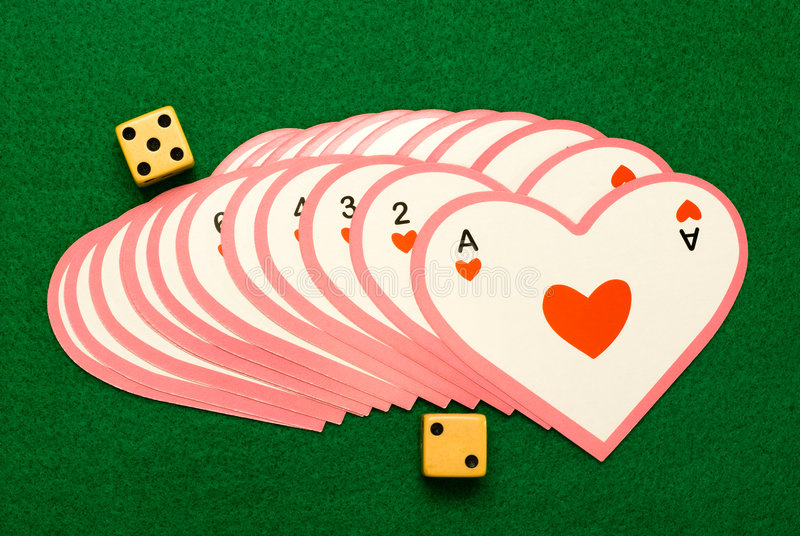 κάρτες που παίζουν την αγάπη στοκ φωτογραφία