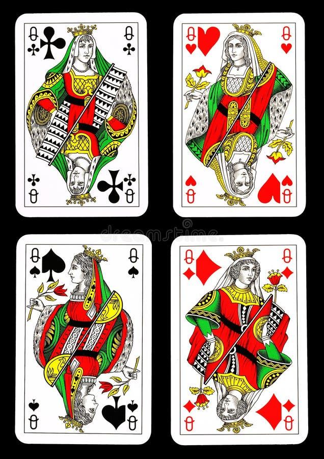 κάρτες που παίζουν τις β&alp διανυσματική απεικόνιση