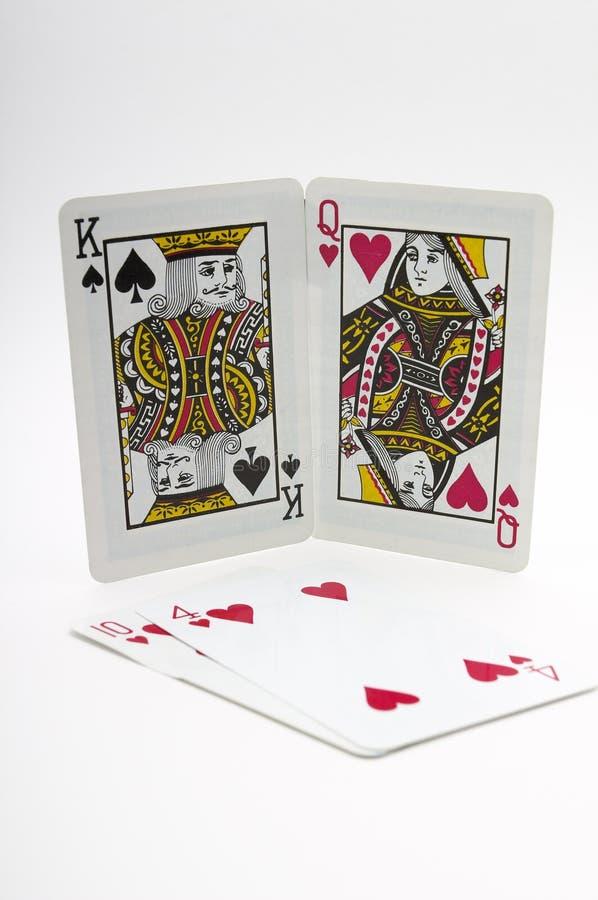 κάρτες που παίζουν τους βαλεντίνους στοκ φωτογραφία