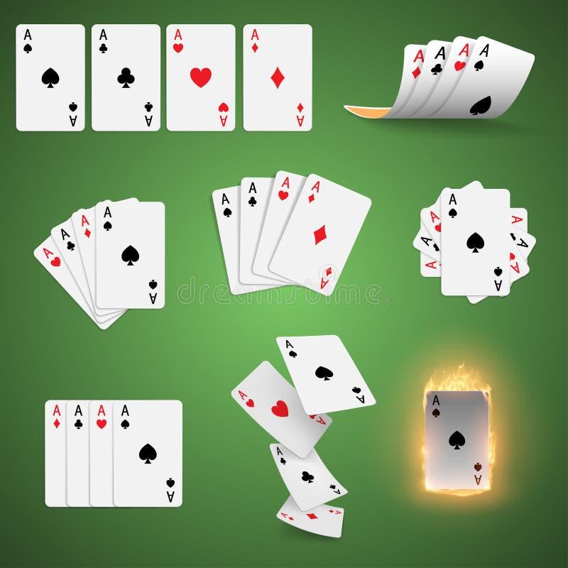 κάρτες που παίζουν το σύν&om απεικόνιση αποθεμάτων