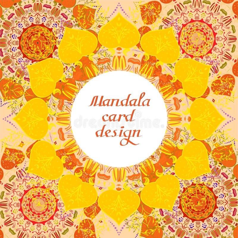 Κάρτες σχεδίου επιχειρησιακού mandala διακοσμητικά στοιχεία διανυσματική απεικόνιση