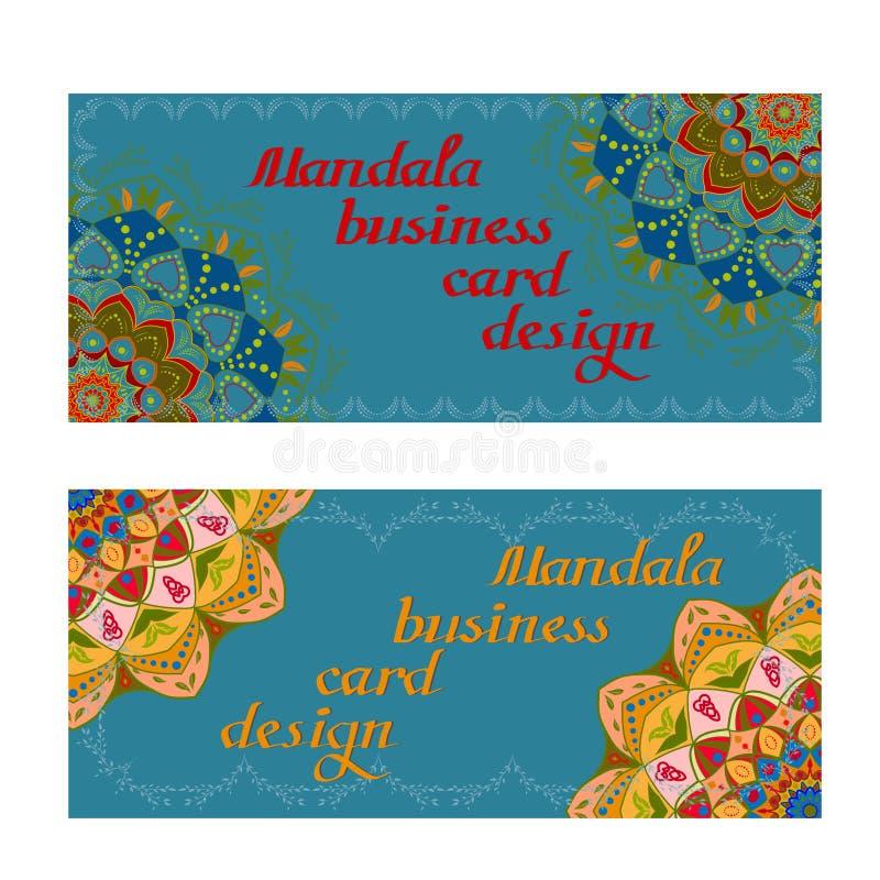 Κάρτες σχεδίου επιχειρησιακού mandala διακοσμητικά στοιχεία απεικόνιση αποθεμάτων
