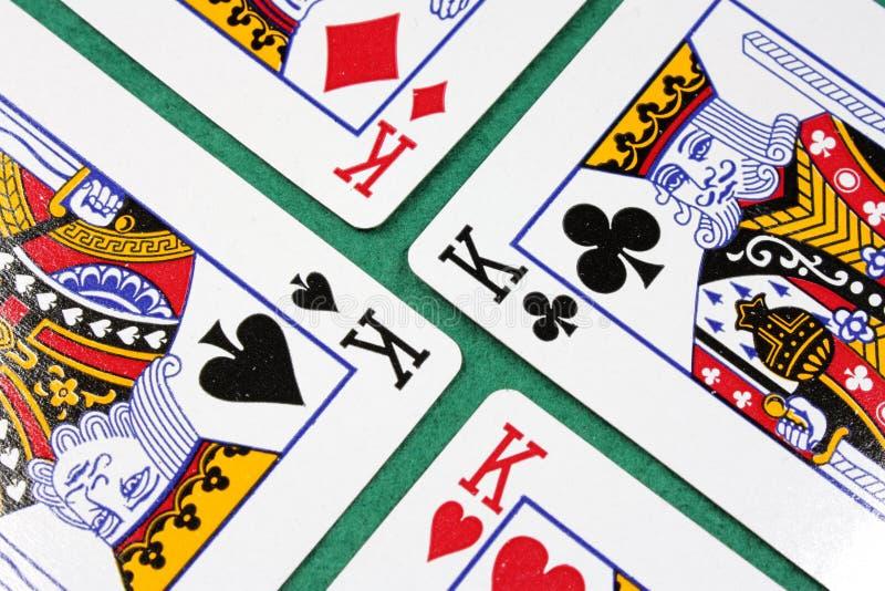 κάρτες τέσσερα πόκερ στοκ φωτογραφία με δικαίωμα ελεύθερης χρήσης