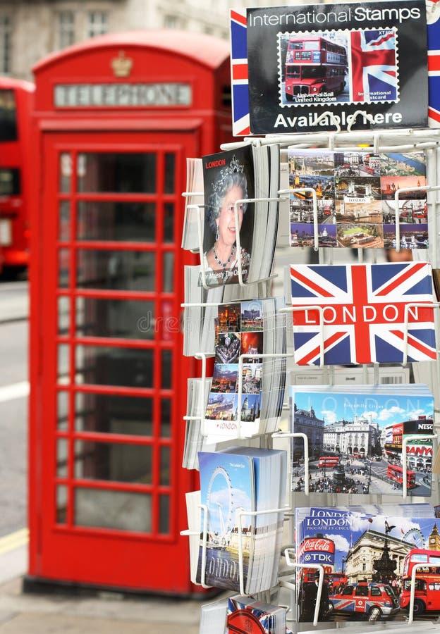 Κάρτες του Λονδίνου στοκ εικόνες