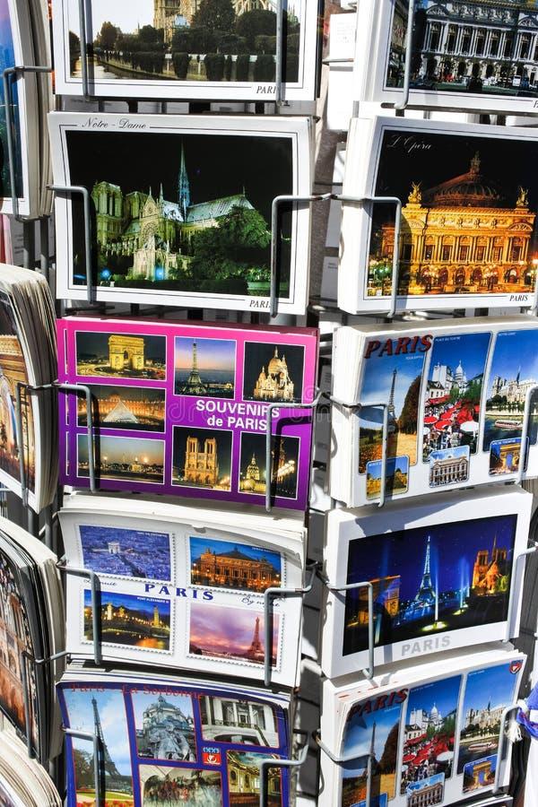 κάρτες του Παρισιού Κτήρια, έλξη στοκ εικόνες με δικαίωμα ελεύθερης χρήσης