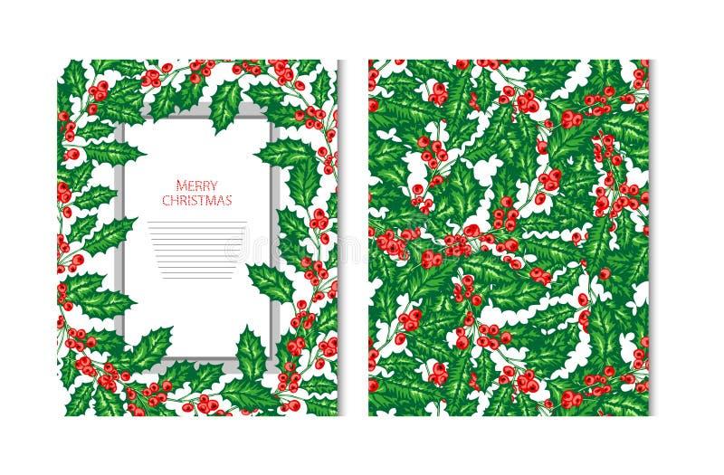 Κάρτες χειμερινών διακοπών ελεύθερη απεικόνιση δικαιώματος