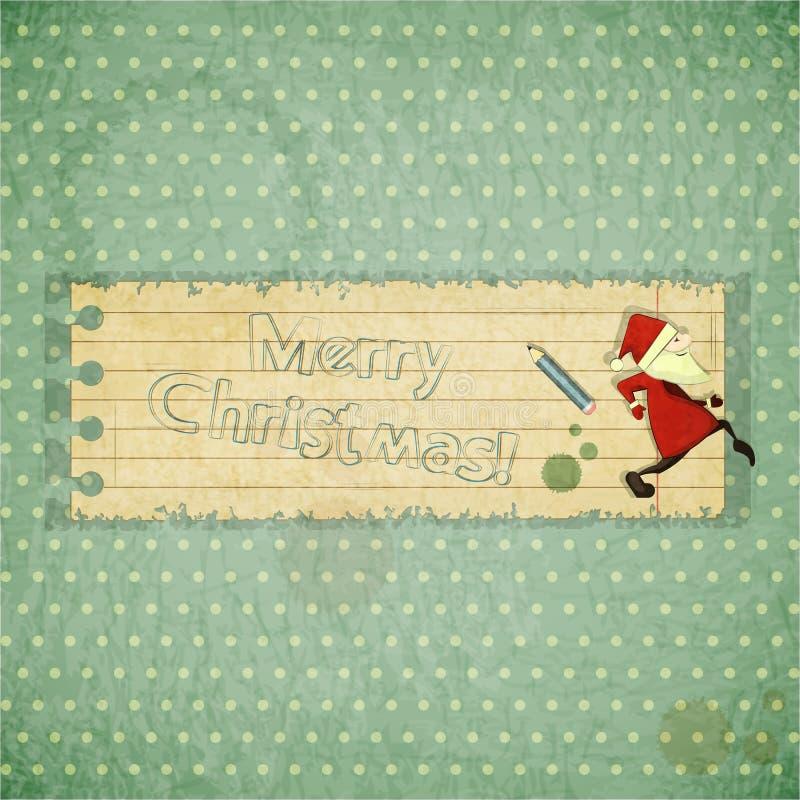Κάρτες Χριστουγέννων με Άγιο Βασίλη διανυσματική απεικόνιση