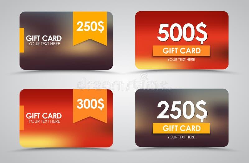 Κάρτες δώρων σχεδίου απεικόνιση αποθεμάτων