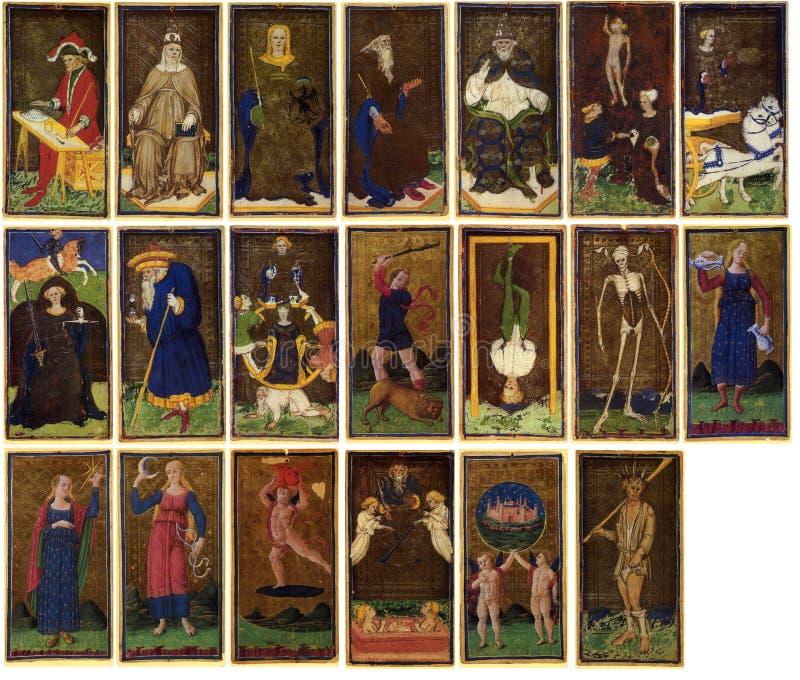 κάρτες arcanum tarot στοκ εικόνα