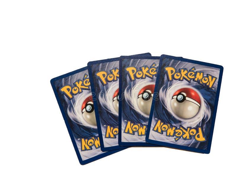 Κάρτες Pokemon στο λευκό στοκ φωτογραφίες με δικαίωμα ελεύθερης χρήσης